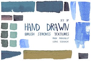 Hand drawn brush stroke textures