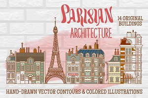 Parisian Architecture Hand-drawn Art