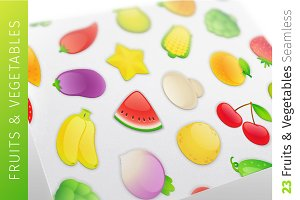 Set of Seamless Fruits & Vegetables