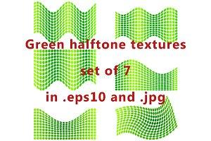 Green halftone textures.