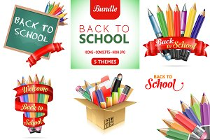 Back to School Isolated Themes