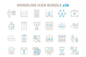 Common monoline iconset