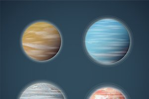 Typical space planets set