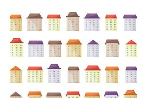 Cute buildings iconset