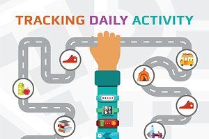Fitness tracking and walking route
