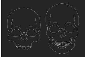 Chalk skull vector clip art. Vector
