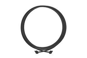 Round rope node frame. Vector