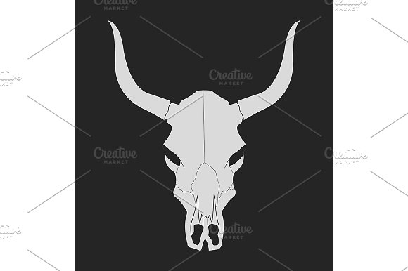 Wild west cow skull. Vector - Illustrations