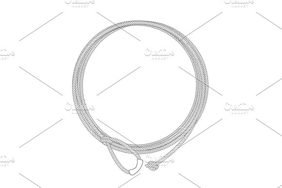Wild west lasso rope frame. Vector - Illustrations