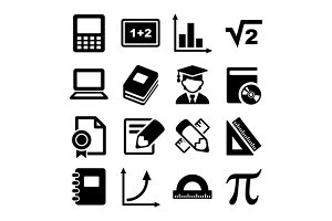 Mathematics Icons Set