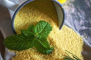 Moroccan Couscous ingredients