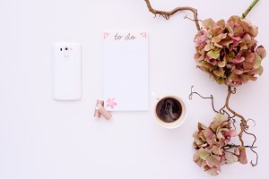 Coffee and phone desk accesories