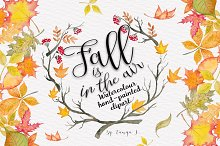 Fall is in the air Autumn Watercolor