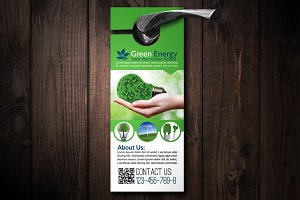 Green Energy Door hanger