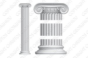Ionic Column Illustration