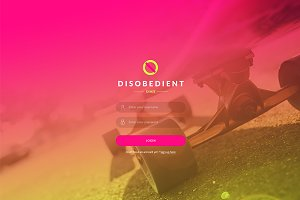 Disobedient UI Kit Vol 1 - Photoshop