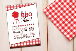 It's BBQ Barbeque Time Invitation