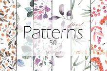 floral Patterns 50, vol. 1