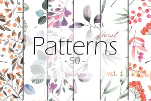 floral Patterns 50, vol. 1