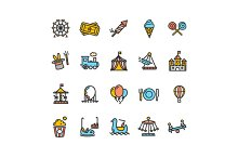 Amusement Park Outline Icon