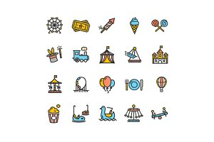 Amusement Park Outline Icon