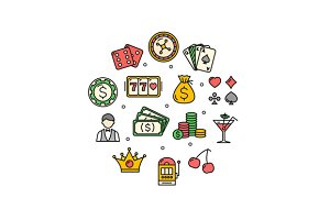Casino Round Design Icon