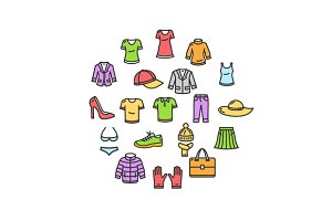 Clothes Round Design Icon
