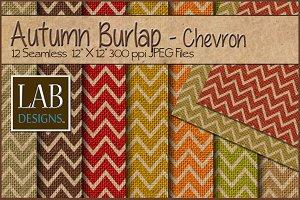 12 Fall Chevron Burlap Textures