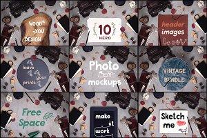 10 Vintage Mockups