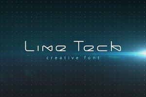 LineTech futuristic technology font