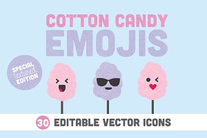 Cotton Candy Emojis