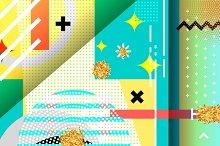 Geometric symbols background