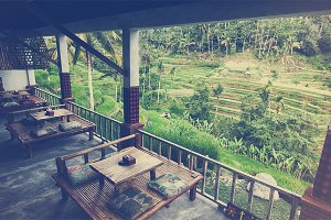 Cafe on Bali island