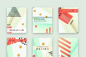 Universal cards. Abstract design