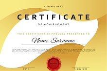 Template certificate design