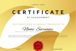 Template certificate design