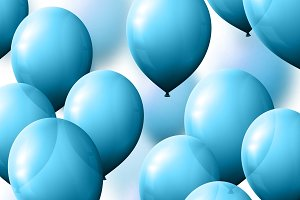 Realistic balloons blue