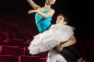 Ballet dancers man woman couple