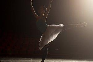 Ballerina stage theater lightning