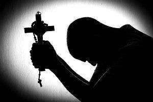 man hands in prayer