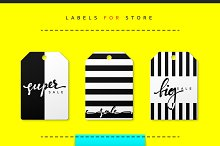 Label set for clothing sales