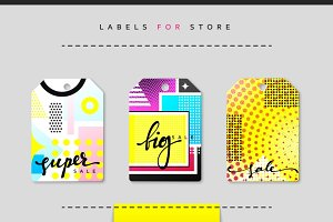 Label set for clothing sales