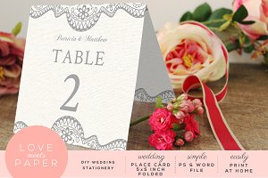 Table Place Card Template PC3004