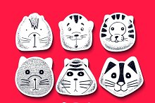 Cats characters animals.