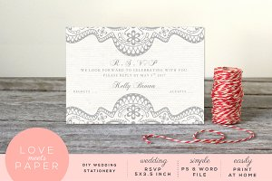 RSVP Wedding Invite R1004