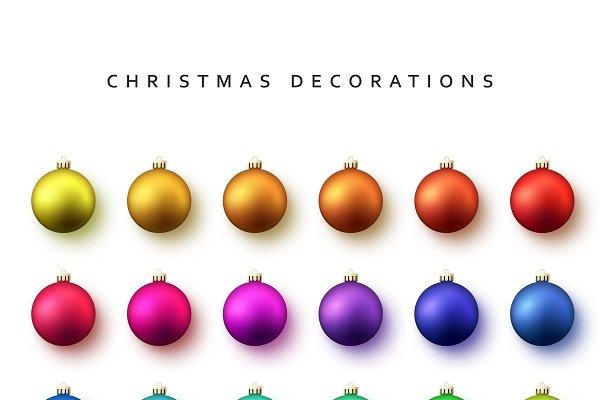 Set christmas balls.