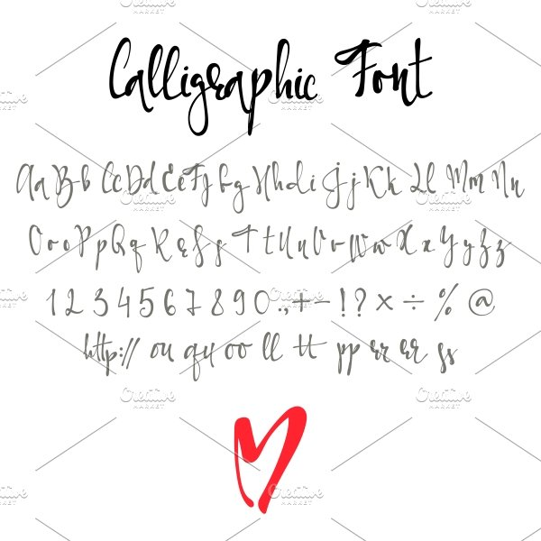 Font With Numbers Modern Alphabet