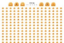 Characters smile Emoji for Web