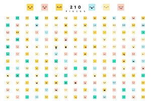 Emoticon emoji  great set of 210