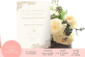 Wedding Invitation Template  I1011